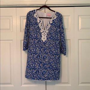 EUC Lilly Pulitzer Julianna Beaded Tunic Dress LG